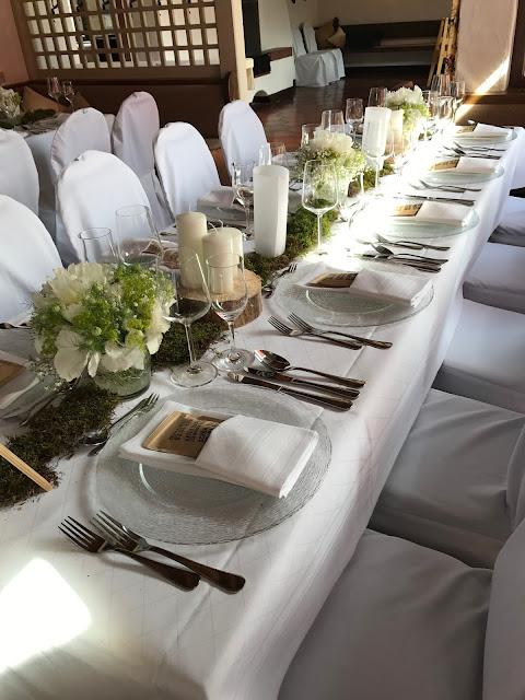 Hochzeitstafel im Seehaus, Hochzeit in Apfelgrün und Weiß im Riessersee Hotel Garmisch-Partenkirchen, Hochzeitshotel in Bayern, heiraten in den Bergen am See