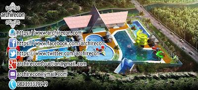 Desain Arsitektur Kolam Renang - Tampak Atas