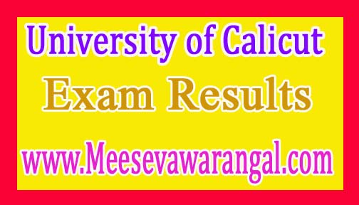 University of Calicut B.Com Vocational IVth Sem CCSSUG 2016 Exam Results