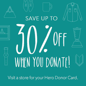 Save up to 30% when you donate your unwanted clothes.