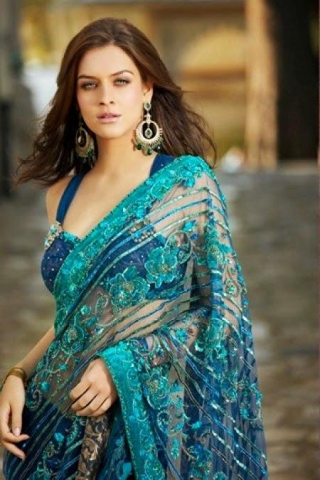 Girl in Transparent saree