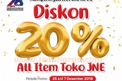 Promo JNE Terbaru Periode 25 November - 7 Desember 2018