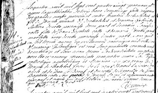 Marriage record of Francois Deschatelets Marie Louise Colle