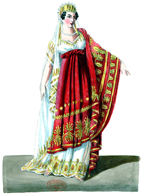 Caroline Branchu as Statira in Spontini's Olimpie in Paris in 1819
