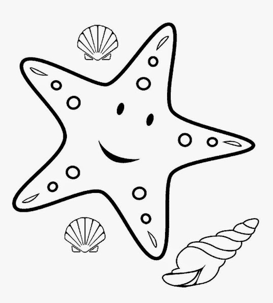 star fish coloring pages | Printable Coloring Page Sea Ocean Animals – Colorings.net