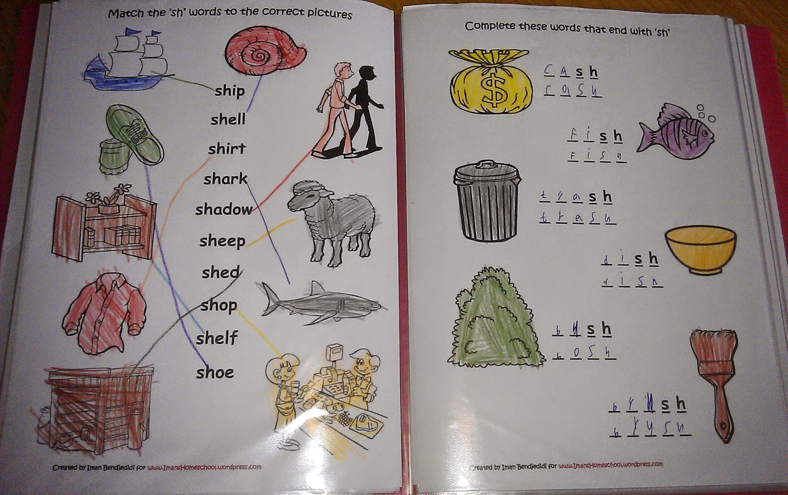 Iman S Home School Phonics Digraphs Lapbook And Worksheets