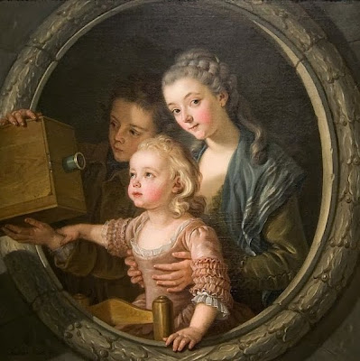 The Camera Obscura by Charles-Amédée-Philippe van Loo, 1764