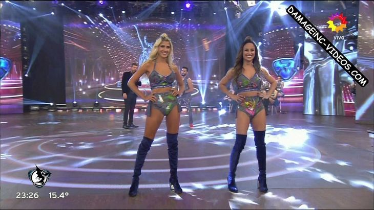 Lourdes Sanchez and Candela Ruggeri hot legs in boots Damageinc Videos HD