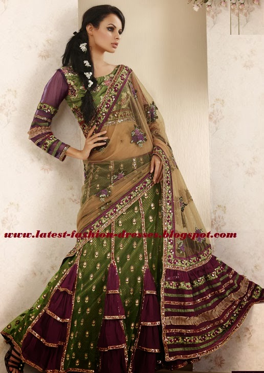 frilled Bollywood saree style
