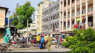 Benin people like to walk around in pyjamas