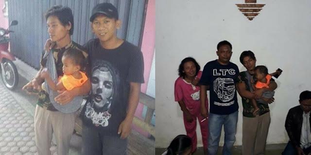 Alhamdulillah.. Sudah Sampai di Kampung Halaman, Pria yang Bawa Anaknya 18 Bulan Jalan Kaki Madura-Sumatera