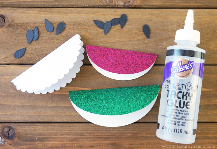 Watermelon Summer Bag Toppers are an easy Make It Now project in Cricut Design Space! #CricutMade