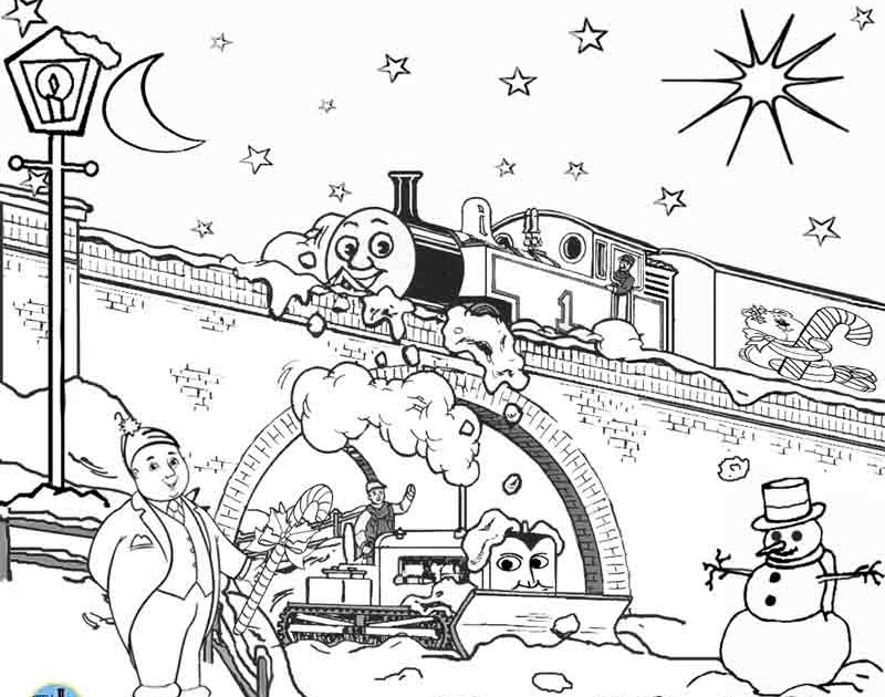 Train Thomas The Tank Engine Friends Free Online Games And Toys For Kids:  FREE Christmas Coloring Pages For Kids Printable Thomas Snow Pictures