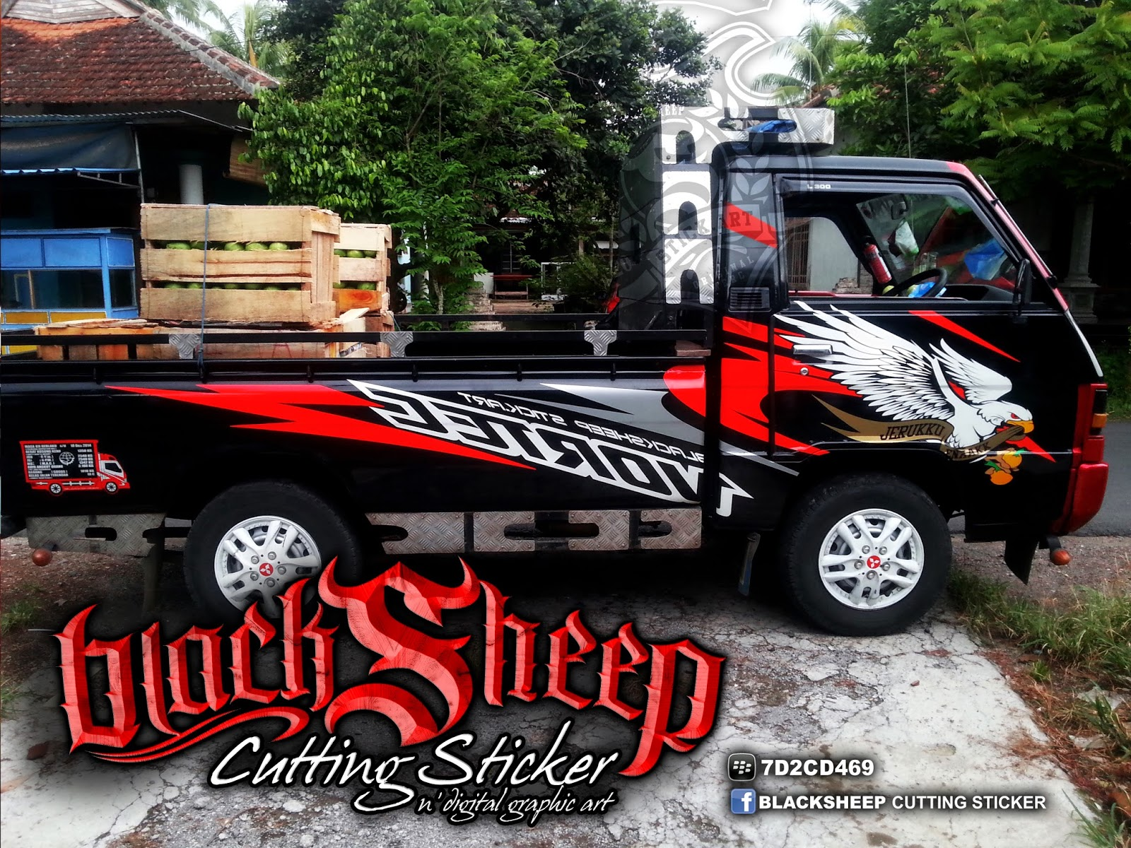 top gambar cutting sticker mobil pick up terbaru modifotto. Black Bedroom Furniture Sets. Home Design Ideas