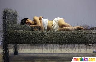 Tidur di atas kawat Duri