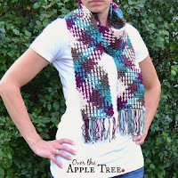 Color Pooling Scarf by Over The Apple Tree