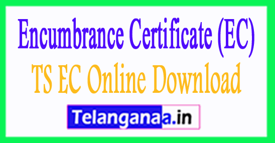 Encumbrance Certificate (EC) for free Download of Telangana State