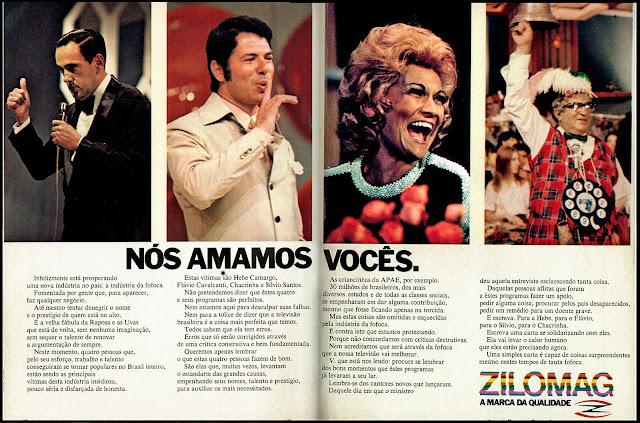 programas de tv na década de 70