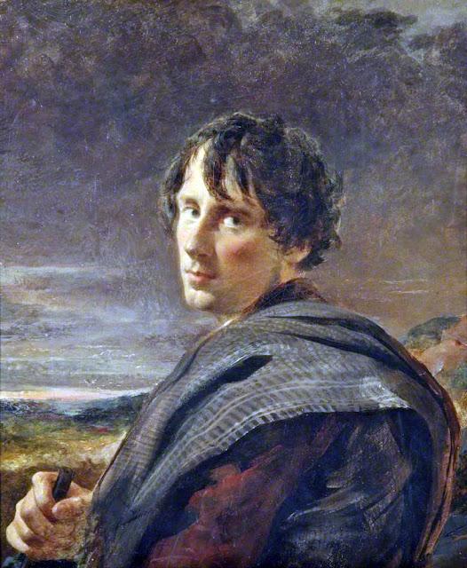William Davis, Self Portrait, Portraits of Painters, Fine arts, Portraits of painters blog, Paintings of William Davis, Painter  William
