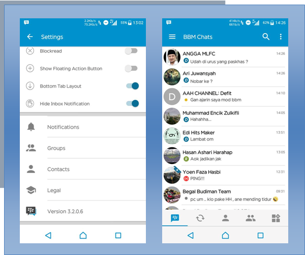 Download BBM Mod Official Versi 3.2.0.6 Apk Update Terbaru Fix
