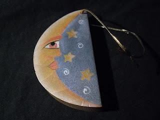 crescent Moon tree ornament