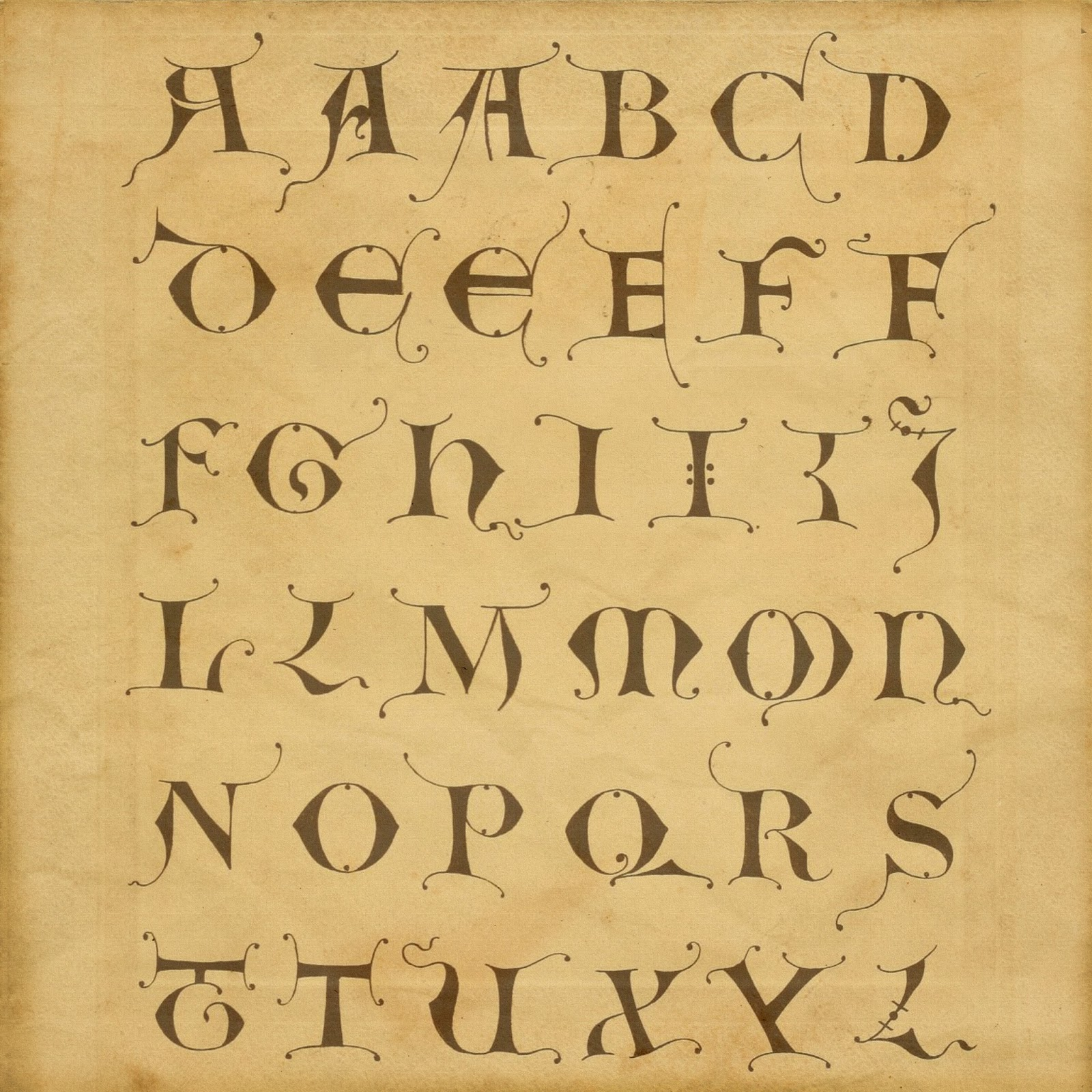Pinterest Diy Home Decor Crafts Boulevard De L Antique Retro Scraps Medieval Style Alphabet