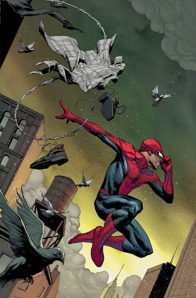 Amazing Spider-Man #1 Marvel Now cover with Peter Parker returning