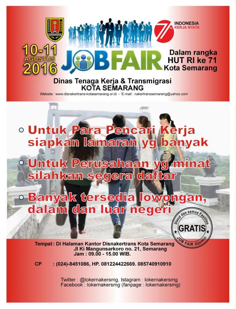 Job Fair Disnakertrans Kota Semarang HUT RI Ke-71
