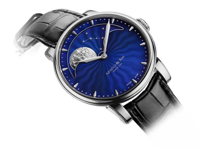 HM Perpetual Moon steel case with blue guilloche dial