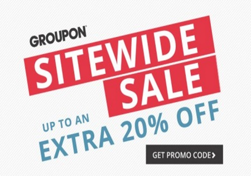 Groupon Extra 20% Off Sitewide Sale Promo Code