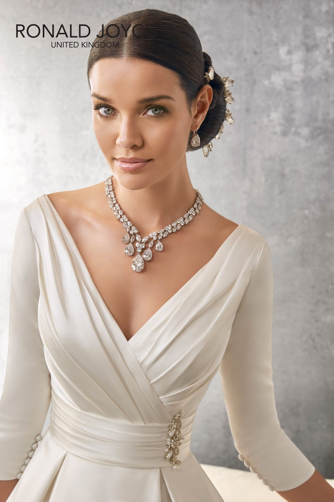 If You Are Looking For A Beautiful Long Sleeved Gown Your Winter Wedding Then Look No Further Than This Offering From Ronald Joyce