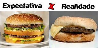 Expectativa x Realidade hambúrguer