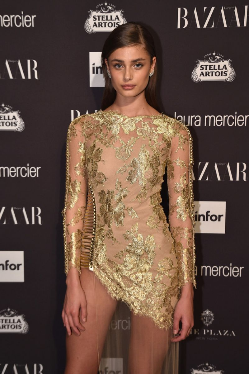 'Victoria's Secret' Model Taylor Marie Hill At Harper's Bazaar Celebrates Icons By Carine Roitfeld In New York