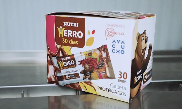Nutri Hierro 30 días, galletas que eliminan la anemia en un mes
