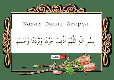nazar duası arapça oku