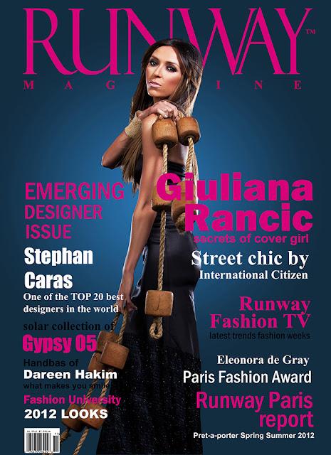 RUNWAY MAGAZINE issue 2012  RUNWAY MAGAZINE cover 2012
