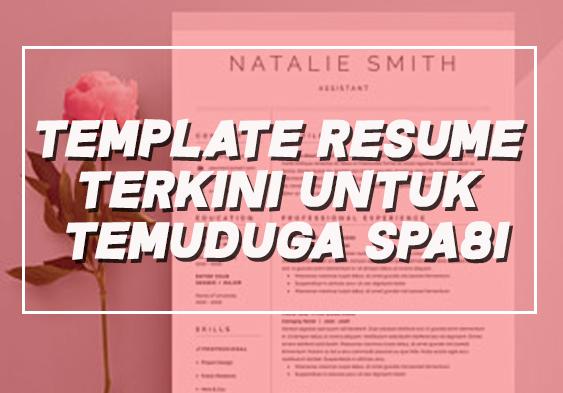 Template Resume Percuma Terkini Untuk Temuduga SPA8i