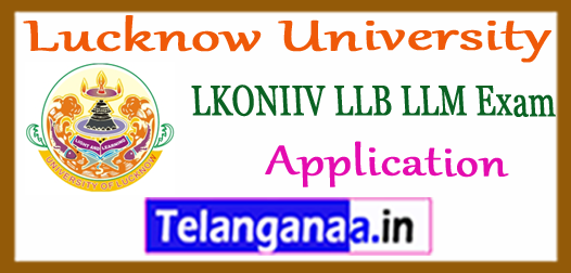 Lucknow University LLB LLM Online Application Form 2018 Admission