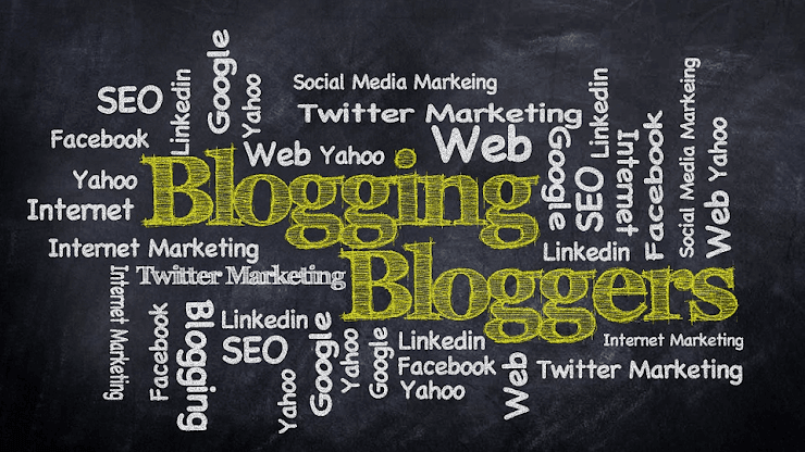 Tag cloud of blogging terms