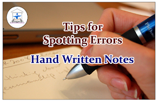 Tips to Spotting Errors in English Section - Hand Written Notes
