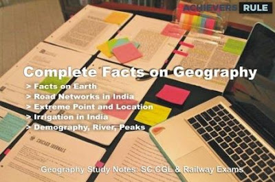 Geography Study Materials  and Notes - All Important Points