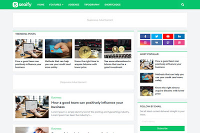 SEOIFY Premium Blogger Template