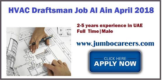 Job Openings for HVAC and MEP Draftsman at Al Ain UAE