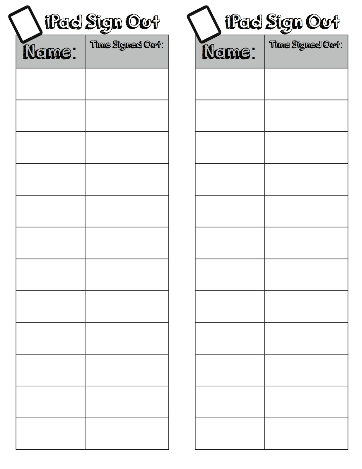 ipad sign out freebie the techie teacher