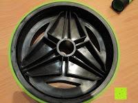 Rad seitlich: AB-Roller / Bauchtrainer / Bauch Roller »TheBodyWheel« / Ideal für Schulter-, Rücken- und Bauchmuskeltraining / zerlegbar, Farbe grün