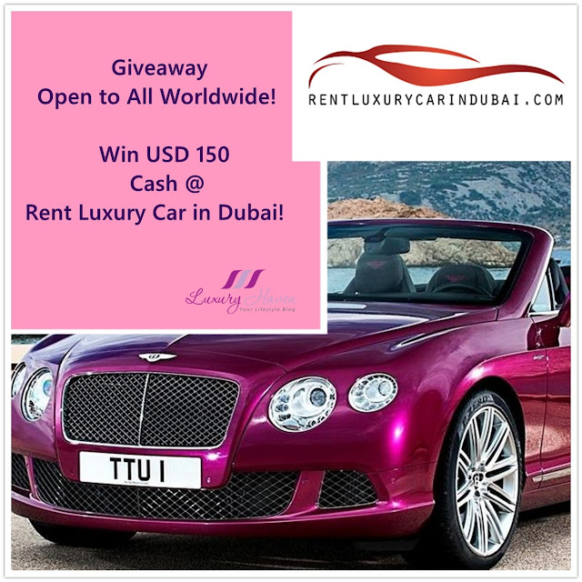 instagram luxury car rentals dubai giveaway