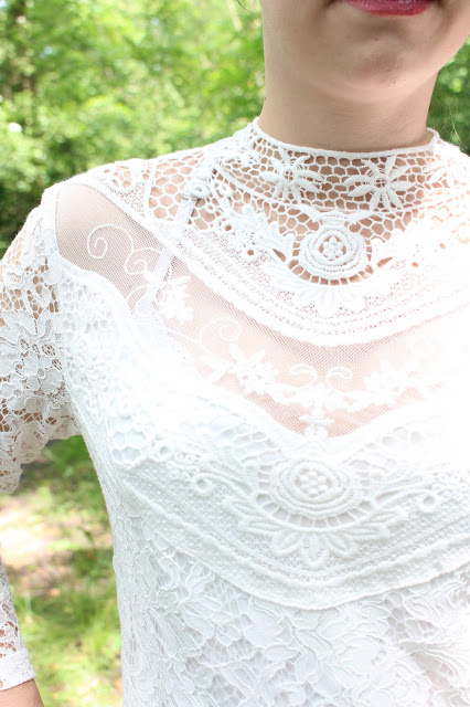 white lace dress look