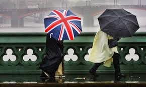 London, union jack umbrella,