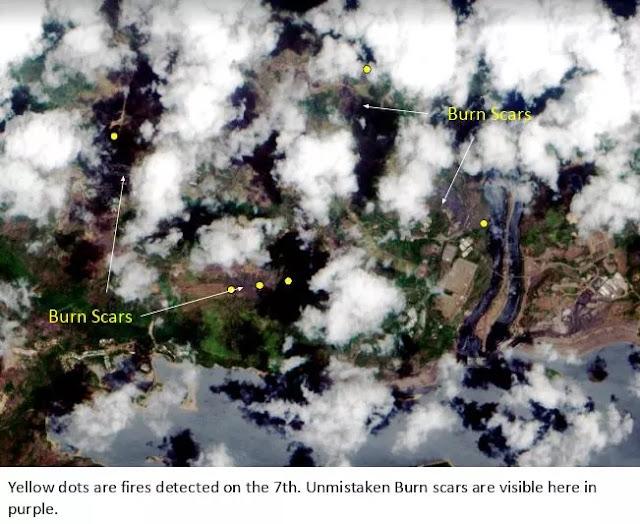 Fotos de la Nasa demuestran que incendios en el Guri comenzaron un día antes del apagón nacional