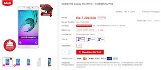 Harga Samsung Galaxy A9 (2016) di JD.Id Bonus Power Bank
